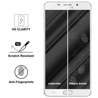 Cadorabo Vollbild Panzer Folie für Samsung Galaxy A9 2016 - Schutzfolie in TRANSPARENT mit WEISS - Gehärtetes (Tempered) Display-Schutzglas in 9H Härte mit 3D Touch Kompatibilität - Vorschau 3