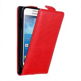 Cadorabo Hülle für Samsung Galaxy S4 MINI in APFEL ROT - Handyhülle im Flip Design mit unsichtbarem Magnetverschluss - Case Cover Schutzhülle Etui Tasche Book Klapp Style