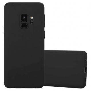 Cadorabo Hülle für Samsung Galaxy S9 in CANDY SCHWARZ - Handyhülle aus flexiblem TPU Silikon - Silikonhülle Schutzhülle Ultra Slim Soft Back Cover Case Bumper