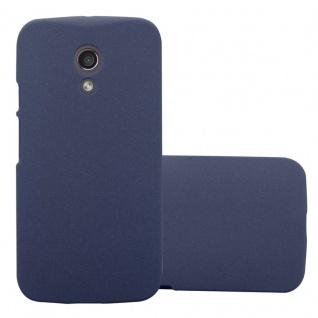 Cadorabo Hülle für Motorola MOTO Z2 in FROSTY BLAU Hardcase Handyhülle aus Plastik gegen Kratzer und Stöße Schutzhülle Bumper Ultra Slim Back Case Hard Cover