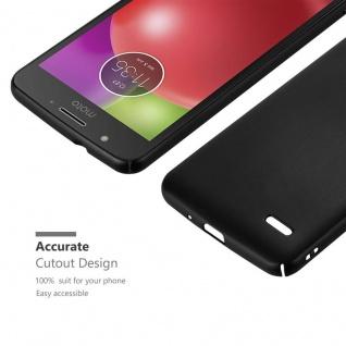 Cadorabo Hülle für Motorola MOTO E4 in METALL SCHWARZ - Hardcase Handyhülle aus Plastik gegen Kratzer und Stöße - Schutzhülle Bumper Ultra Slim Back Case Hard Cover - Vorschau 5