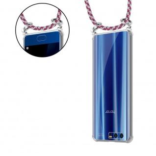 Cadorabo Handy Kette für Honor 9 in ROT WEISS Silikon Necklace Umhänge Hülle mit Silber Ringen, Kordel Band Schnur und abnehmbarem Etui Schutzhülle - Vorschau 5