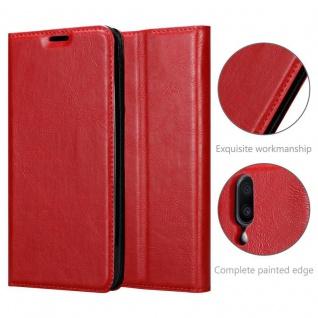 Cadorabo Hülle für Samsung Galaxy M10 in APFEL ROT Handyhülle mit Magnetverschluss, Standfunktion und Kartenfach Case Cover Schutzhülle Etui Tasche Book Klapp Style - Vorschau 5