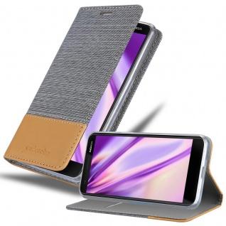 Cadorabo Hülle für Nokia 3.1 2018 in HELL GRAU BRAUN - Handyhülle mit Magnetverschluss, Standfunktion und Kartenfach - Case Cover Schutzhülle Etui Tasche Book Klapp Style