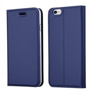 Cadorabo Hülle für Apple iPhone 6 PLUS / iPhone 6S PLUS in CLASSY DUNKEL BLAU - Handyhülle mit Magnetverschluss, Standfunktion und Kartenfach - Case Cover Schutzhülle Etui Tasche Book Klapp Style
