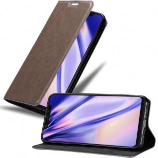 Cadorabo Hülle für Xiaomi Mi 8 in KAFFEE BRAUN - Handyhülle mit Magnetverschluss, Standfunktion und Kartenfach - Case Cover Schutzhülle Etui Tasche Book Klapp Style