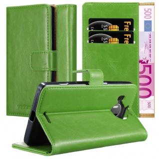 Cadorabo Hülle für Nokia Lumia 950 XL in GRAS GRÜN - Handyhülle mit Magnetverschluss, Standfunktion und Kartenfach - Case Cover Schutzhülle Etui Tasche Book Klapp Style