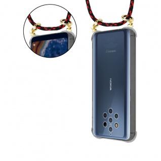 Cadorabo Handy Kette für Nokia 10 in SCHWARZ ROT Silikon Necklace Umhänge Hülle mit Gold Ringen, Kordel Band Schnur und abnehmbarem Etui Schutzhülle - Vorschau 5
