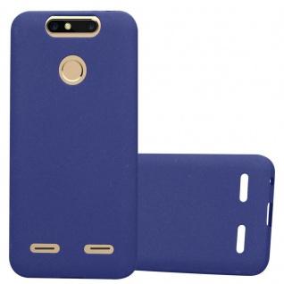 Cadorabo Hülle für ZTE Blade V8 MINI in FROST DUNKEL BLAU - Handyhülle aus flexiblem TPU Silikon - Silikonhülle Schutzhülle Ultra Slim Soft Back Cover Case Bumper