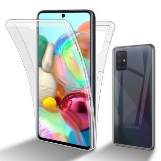 Cadorabo Hülle kompatibel mit Samsung Galaxy A51 4G / M40S in TRANSPARENT - 360° Full Body Handyhülle Front und Rückenschutz Rundumschutz Schutzhülle mit Displayschutz