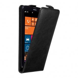 Cadorabo Hülle für Nokia Lumia 1320 in NACHT SCHWARZ Handyhülle im Flip Design mit unsichtbarem Magnetverschluss Case Cover Schutzhülle Etui Tasche Book Klapp Style