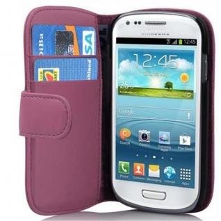 Cadorabo Hülle für Samsung Galaxy S3 MINI - Hülle in ANTIK ROSA ? Handyhülle mit Kartenfach aus glattem Kunstleder - Case Cover Schutzhülle Etui Tasche Book Klapp Style