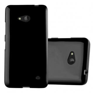 Cadorabo Hülle für Nokia Lumia 640 in JELLY SCHWARZ ? Handyhülle aus flexiblem TPU Silikon ? Silikonhülle Schutzhülle Ultra Slim Soft Back Cover Case Bumper
