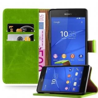 Cadorabo Hülle für Sony Xperia Z3 in GRAS GRÜN - Handyhülle mit Magnetverschluss, Standfunktion und Kartenfach - Case Cover Schutzhülle Etui Tasche Book Klapp Style