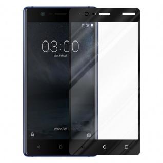 Cadorabo Vollbild Panzer Folie für Nokia 3.1 2018 - Schutzfolie in TRANSPARENT mit SCHWARZ - Gehärtetes (Tempered) Display-Schutzglas in 9H Härte mit 3D Touch Kompatibilität - Vorschau 2