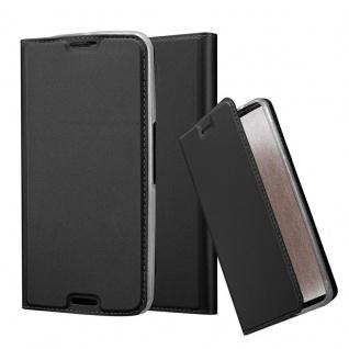 Cadorabo Hülle für Motorola NEXUS 6 in CLASSY SCHWARZ - Handyhülle mit Magnetverschluss, Standfunktion und Kartenfach - Case Cover Schutzhülle Etui Tasche Book Klapp Style