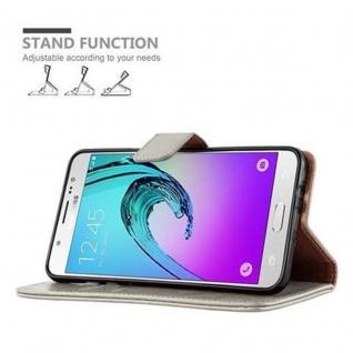 Cadorabo Hülle für Samsung Galaxy J7 2016 in CAPPUCCINO BRAUN ? Handyhülle mit Magnetverschluss, Standfunktion und Kartenfach ? Case Cover Schutzhülle Etui Tasche Book Klapp Style - Vorschau 5
