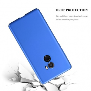 Cadorabo Hülle für Xiaomi Mi Mix 2 in METALL BLAU - Hardcase Handyhülle aus Plastik gegen Kratzer und Stöße - Schutzhülle Bumper Ultra Slim Back Case Hard Cover - Vorschau 3