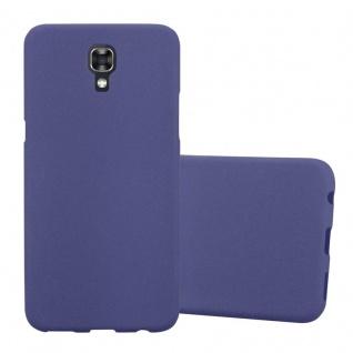 Cadorabo Hülle für LG X SCREEN in FROST DUNKEL BLAU Handyhülle aus flexiblem TPU Silikon Silikonhülle Schutzhülle Ultra Slim Soft Back Cover Case Bumper