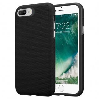 Cadorabo Hülle für Apple iPhone 6 PLUS / 7 PLUS / 8 PLUS in DAHLIEN SCHWARZ ? Outdoor Handyhülle mit extra Grip Anti Rutsch Oberfläche im Triangle Design aus Silikon und Kunststoff - Schutzhülle Hybrid Hardcase Back Case - Vorschau 1