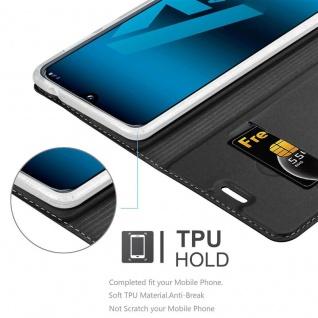 Cadorabo Hülle für Samsung Galaxy A40 in CLASSY SCHWARZ - Handyhülle mit Magnetverschluss, Standfunktion und Kartenfach - Case Cover Schutzhülle Etui Tasche Book Klapp Style - Vorschau 5