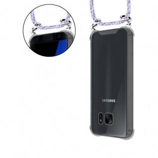 Cadorabo Handy Kette für Samsung Galaxy S7 in UNICORN - Silikon Necklace Umhänge Hülle mit Silber Ringen, Kordel Band Schnur und abnehmbarem Etui - Schutzhülle - Vorschau 5