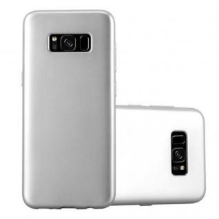 Cadorabo Hülle für Samsung Galaxy S8 in METALLIC SILBER Handyhülle aus flexiblem TPU Silikon Silikonhülle Schutzhülle Ultra Slim Soft Back Cover Case Bumper