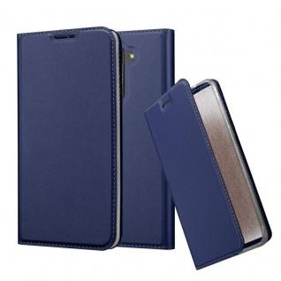 Cadorabo Hülle für LG Stylus 2 in CLASSY DUNKEL BLAU - Handyhülle mit Magnetverschluss, Standfunktion und Kartenfach - Case Cover Schutzhülle Etui Tasche Book Klapp Style