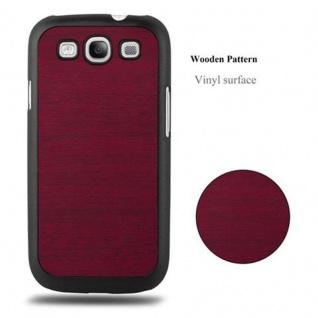 Cadorabo Hülle für Samsung Galaxy S3 / S3 NEO in WOODY ROT ? Hardcase Handyhülle aus Plastik gegen Kratzer und Stöße ? Schutzhülle Bumper Ultra Slim Back Case Hard Cover - Vorschau 4