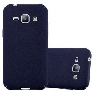 Cadorabo Hülle für Samsung Galaxy J1 2015 in FROSTY BLAU Hardcase Handyhülle aus Plastik gegen Kratzer und Stöße Schutzhülle Bumper Ultra Slim Back Case Hard Cover