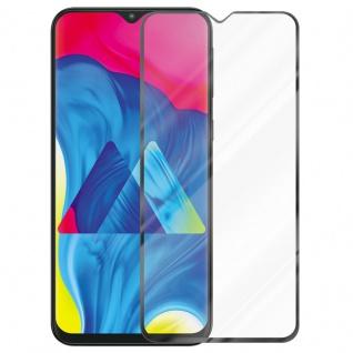Cadorabo Vollbild Panzer Folie für Samsung Galaxy M10 - Schutzfolie in TRANSPARENT mit SCHWARZ - Gehärtetes (Tempered) Display-Schutzglas in 9H Härte mit 3D Touch Kompatibilität