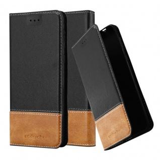 Cadorabo Hülle für Nokia 8 2017 in SCHWARZ BRAUN - Handyhülle mit Magnetverschluss, Standfunktion und Kartenfach - Case Cover Schutzhülle Etui Tasche Book Klapp Style