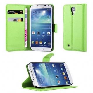 Cadorabo Hülle für Samsung Galaxy S4 in MINZ GRÜN Handyhülle mit Magnetverschluss, Standfunktion und Kartenfach Case Cover Schutzhülle Etui Tasche Book Klapp Style