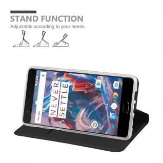 Cadorabo Hülle für OnePlus 3 / 3T in CLASSY SCHWARZ - Handyhülle mit Magnetverschluss, Standfunktion und Kartenfach - Case Cover Schutzhülle Etui Tasche Book Klapp Style - Vorschau 4