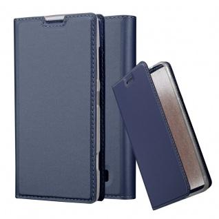 Cadorabo Hülle für Nokia Lumia 520 in CLASSY DUNKEL BLAU - Handyhülle mit Magnetverschluss, Standfunktion und Kartenfach - Case Cover Schutzhülle Etui Tasche Book Klapp Style
