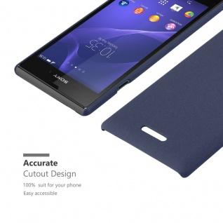 Cadorabo Hülle für Sony Xperia T3 in FROSTY BLAU - Hardcase Handyhülle aus Plastik gegen Kratzer und Stöße - Schutzhülle Bumper Ultra Slim Back Case Hard Cover - Vorschau 5