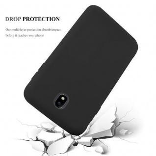 Cadorabo Hülle für Samsung Galaxy J3 2017 in CANDY SCHWARZ - Handyhülle aus flexiblem TPU Silikon - Silikonhülle Schutzhülle Ultra Slim Soft Back Cover Case Bumper - Vorschau 3