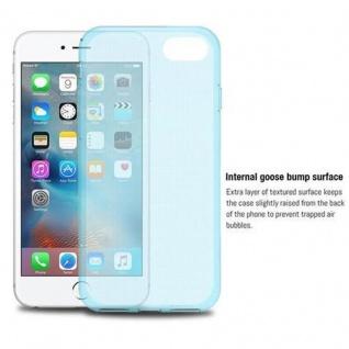 Cadorabo Hülle für Apple iPhone 7 / iPhone 7S / iPhone 8 in TRANSPARENT BLAU - Handyhülle aus flexiblem TPU Silikon - Silikonhülle Schutzhülle Ultra Slim Soft Back Cover Case Bumper - Vorschau 5