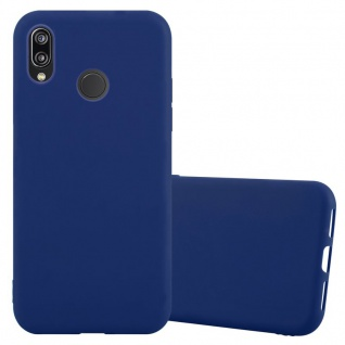 Cadorabo Hülle für Huawei P20 LITE in CANDY DUNKEL BLAU - Handyhülle aus flexiblem TPU Silikon - Silikonhülle Schutzhülle Ultra Slim Soft Back Cover Case Bumper