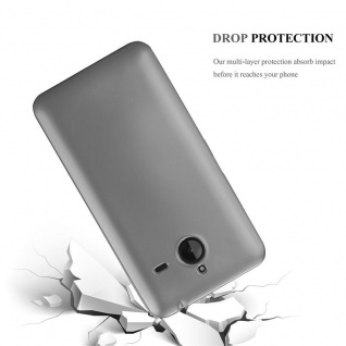 Cadorabo Hülle für Nokia Lumia 640 XL in METALLIC GRAU - Handyhülle aus flexiblem TPU Silikon - Silikonhülle Schutzhülle Ultra Slim Soft Back Cover Case Bumper - Vorschau 3