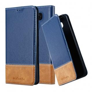 Cadorabo Hülle für LG G6 in DUNKEL BLAU BRAUN - Handyhülle mit Magnetverschluss, Standfunktion und Kartenfach - Case Cover Schutzhülle Etui Tasche Book Klapp Style