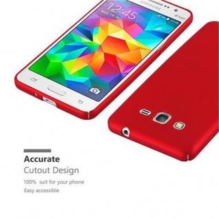 Cadorabo Hülle für Samsung Galaxy GRAND PRIME in METALL ROT - Hardcase Handyhülle aus Plastik gegen Kratzer und Stöße - Schutzhülle Bumper Ultra Slim Back Case Hard Cover - Vorschau 5