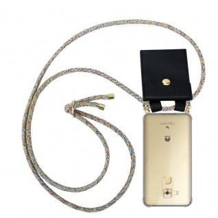 Cadorabo Handy Kette für Huawei NOVA PLUS in RAINBOW Silikon Necklace Umhänge Hülle mit Gold Ringen, Kordel Band Schnur und abnehmbarem Etui Schutzhülle