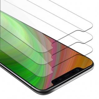 Cadorabo 3x Panzer Folie für Xiaomi Mi 8 PRO - Schutzfolie in KRISTALL KLAR - 3er Pack Gehärtetes (Tempered) Display-Schutzglas in 9H Härte mit 3D Touch Kompatibilität