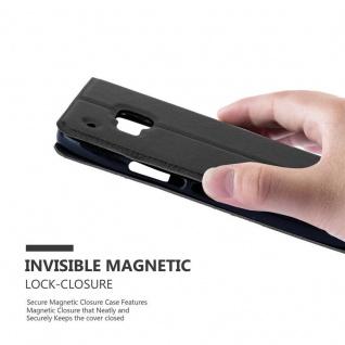 Cadorabo Hülle für HTC One M9 in KOMETEN SCHWARZ ? Handyhülle mit Magnetverschluss, Standfunktion und 2 Sichtfenstern ? Case Cover Schutzhülle Etui Tasche Book Klapp Style - Vorschau 5