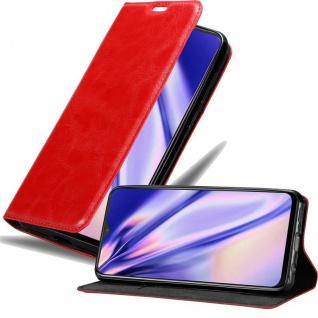 Cadorabo Hülle für OnePlus 7 in APFEL ROT Handyhülle mit Magnetverschluss, Standfunktion und Kartenfach Case Cover Schutzhülle Etui Tasche Book Klapp Style