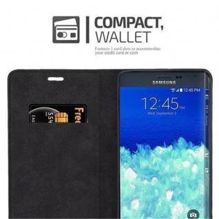 Cadorabo Hülle für Samsung Galaxy NOTE EDGE in APFEL ROT - Handyhülle mit Magnetverschluss, Standfunktion und Kartenfach - Case Cover Schutzhülle Etui Tasche Book Klapp Style - Vorschau 5