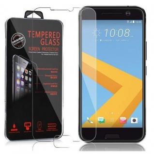 Cadorabo Panzer Folie für HTC 10 Schutzfolie in KRISTALL KLAR Gehärtetes (Tempered) Display-Schutzglas in 9H Härte mit 3D Touch Kompatibilität