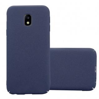 Cadorabo Hülle für Samsung Galaxy J3 2017 in FROSTY BLAU - Hardcase Handyhülle aus Plastik gegen Kratzer und Stöße - Schutzhülle Bumper Ultra Slim Back Case Hard Cover