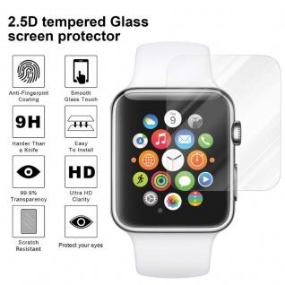 Cadorabo Panzer Folie für Apple Watch Series 1 & 2 42mm Schutzfolie in KRISTALL KLAR Gehärtetes (Tempered) Display-Schutzglas in 9H Härte mit 3D Touch Kompatibilität - Vorschau 4